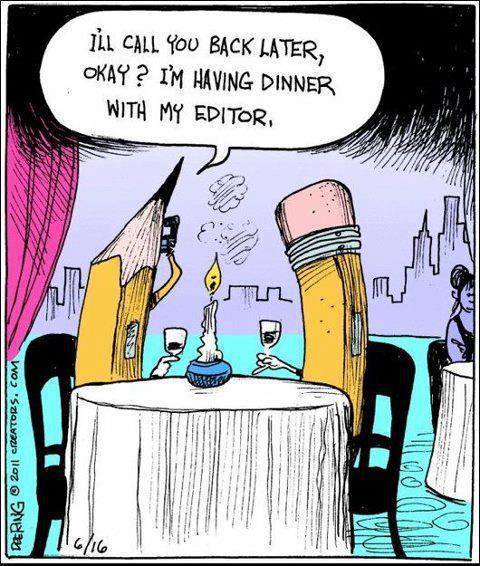 Cartoon Friday: Writers on Vacation | Laura Maylene Walter